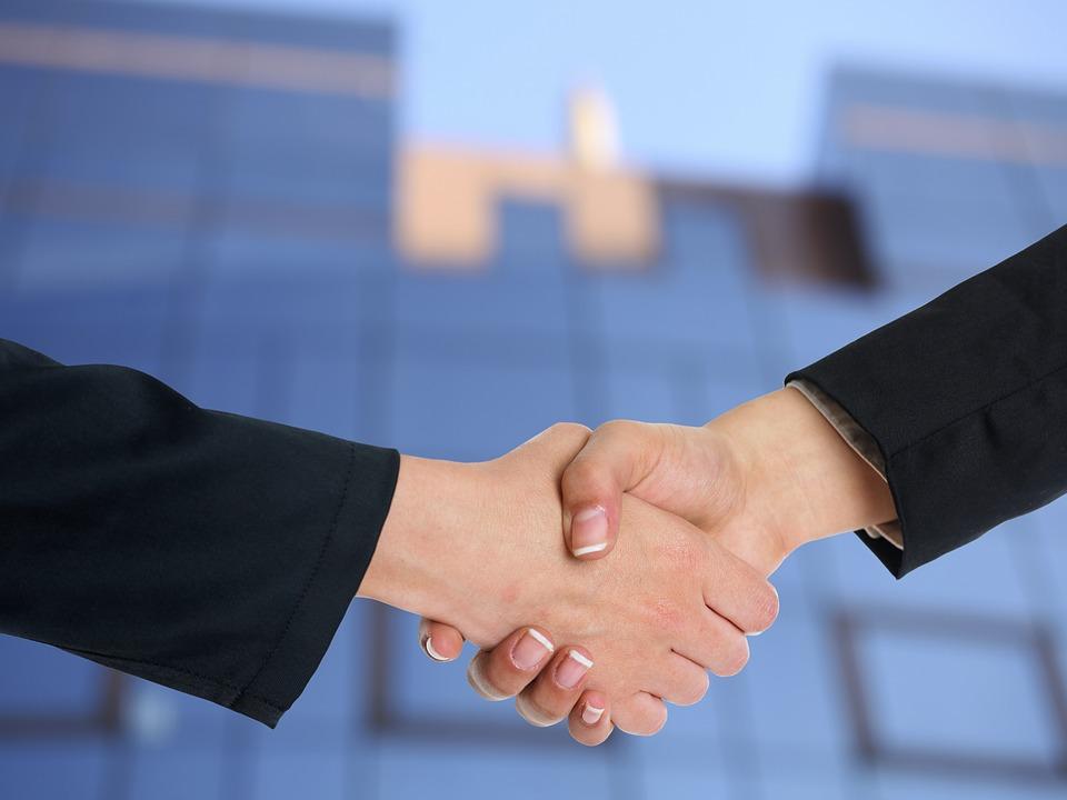 podanie rúk, biznis